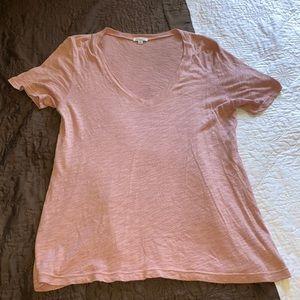 Splendid Pink V-Neck Shirt Size Small